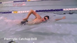 Peter Galan demonstrates the catch up drill featured in our video library