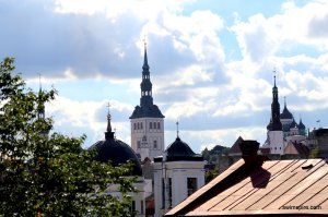 Tallinn, as seen from the Kalev Spa