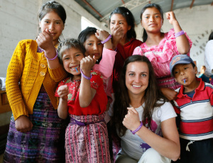 Rebecca during a trip by Girl Up to Guatemala  (INSIDER IMAGES/Stuart Ramson for UN Foundation )