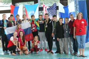 Veliky Novgorod pose for a team photo at Hyvinkaa 2014