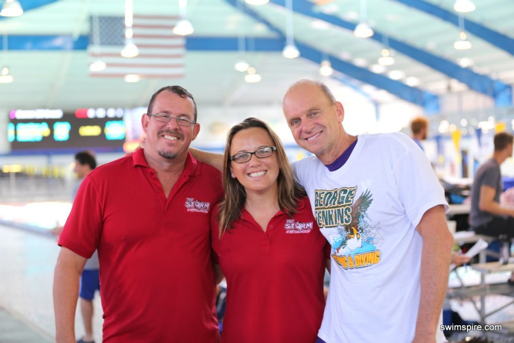 (Left to right) Scott Bay, Jillian Wilkins and Rowdy Gaines led the organizing team