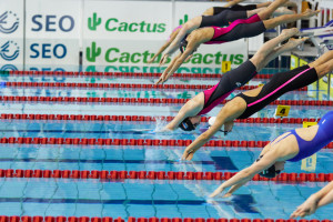 Euro Meet swimmers in action (Photo courtesy of FLNS)