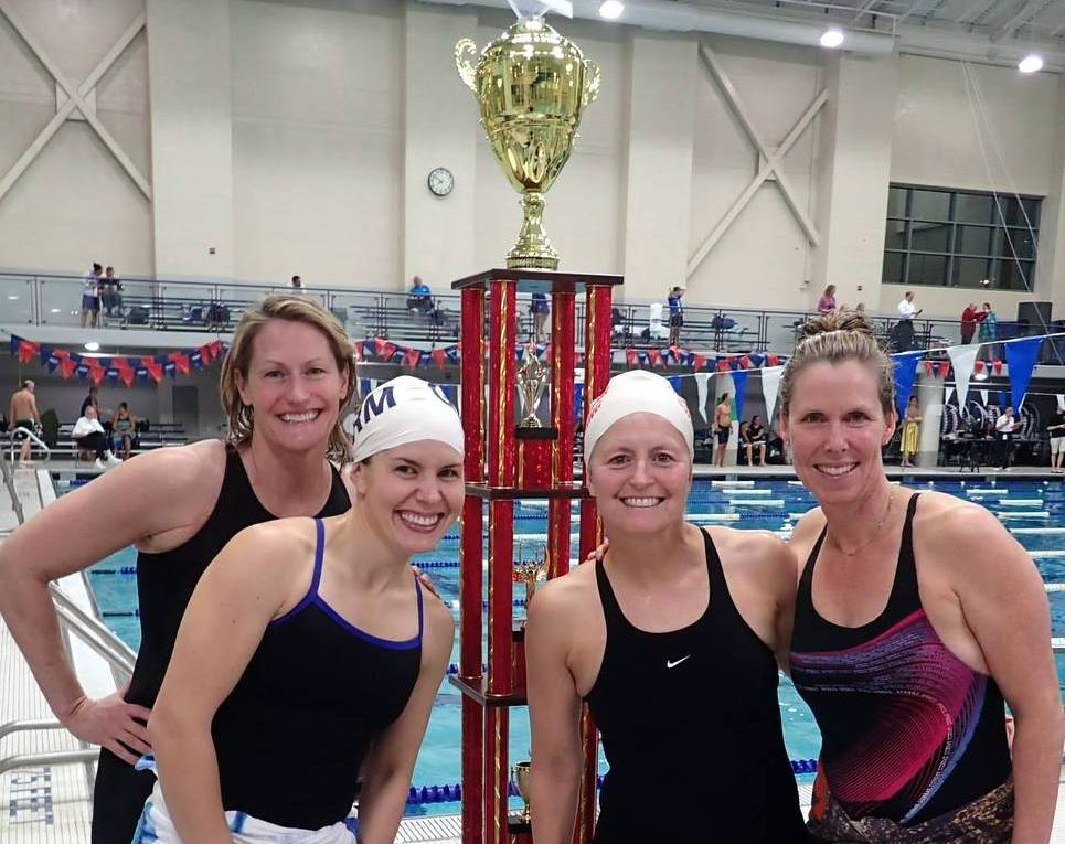 The winning Crescendo Relay team from the 2015 Solstice Meet