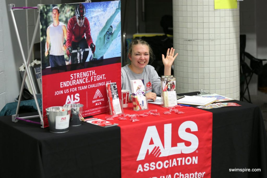 The ALS Association was represented at the meet.