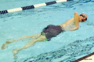 Swimming has provided Norm with a way to manage his MS symptoms and stay fit