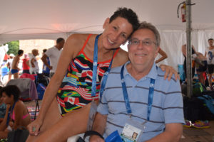 Bruce and Elaine at the 2014 FINA World Championships