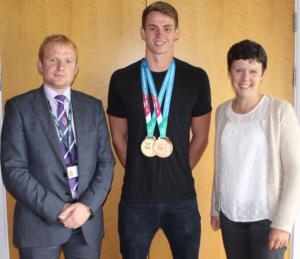 Ben Proud, Director of Sport Mr Phil Mutlow and Deputy Head Mrs Jo Hayward